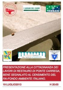 19 luglio2013, presentazione dei lavori di restauro di Ponte Carrega alla cittadinanza