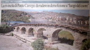 La prima pagina dell'edizione genovese di Repubblica