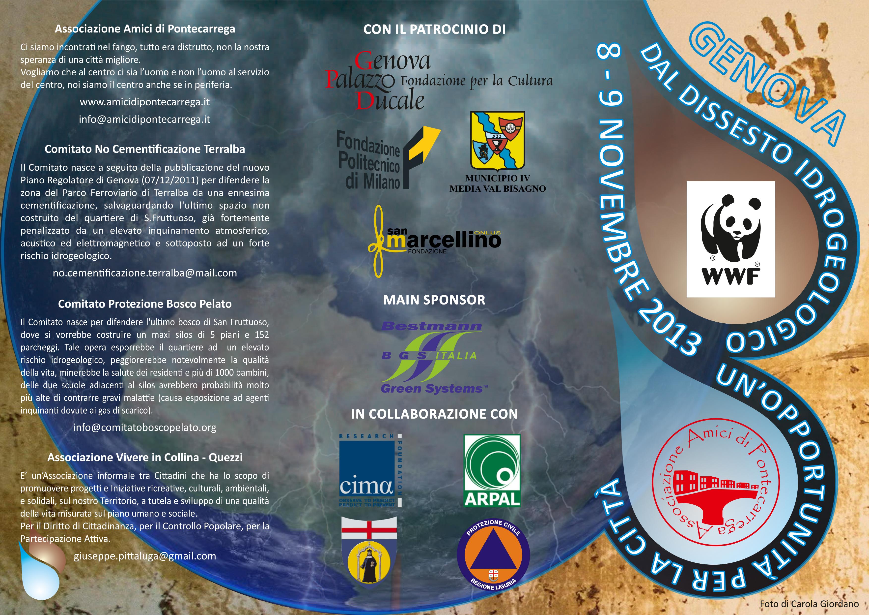 Dopo il lavoro svolto in questi mesi sul tema del dissesto idrogeologico nell ambito del gruppo di lavoro promosso dal Wwf l Associazione Amici di