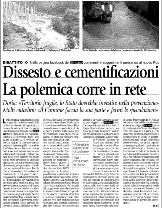 Gazzetta del Lunedì, 30 dicembre 2013