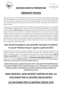 ADESSO BASTA PROMESSE