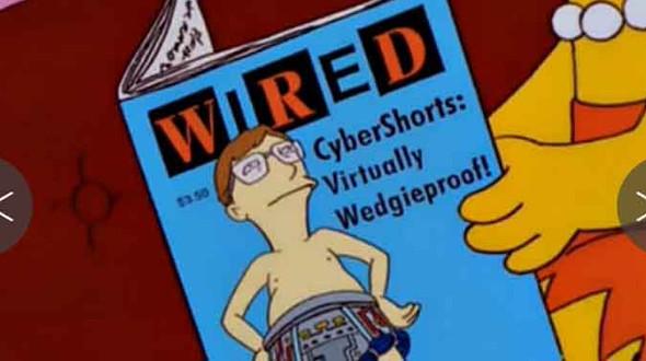 Wired è una delle riviste più diffuse a livello mondiale, compare anche nel cartone animato americano de I Simpson