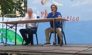 Mirko Bonomi e il prof. Silvio Ferrari durante l'incontro