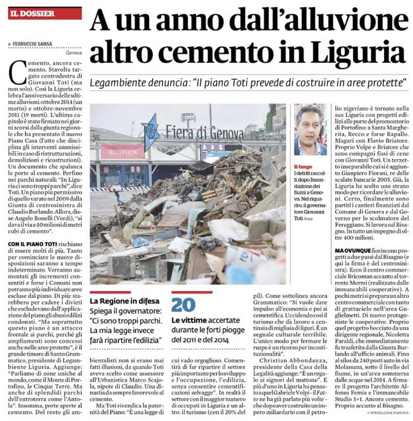 Il Fatto Quotidiano del 20/10/2015