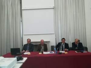 """La tavola rotonda """"Politiche urbane per Genova"""" con il prof. Gastaldi, Marco Preve,  Stefano Sibilla e il prof. Lombardini"""