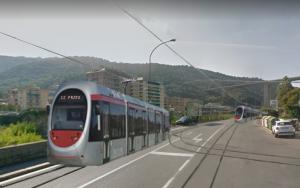 Fotomontaggio tram a Gavette
