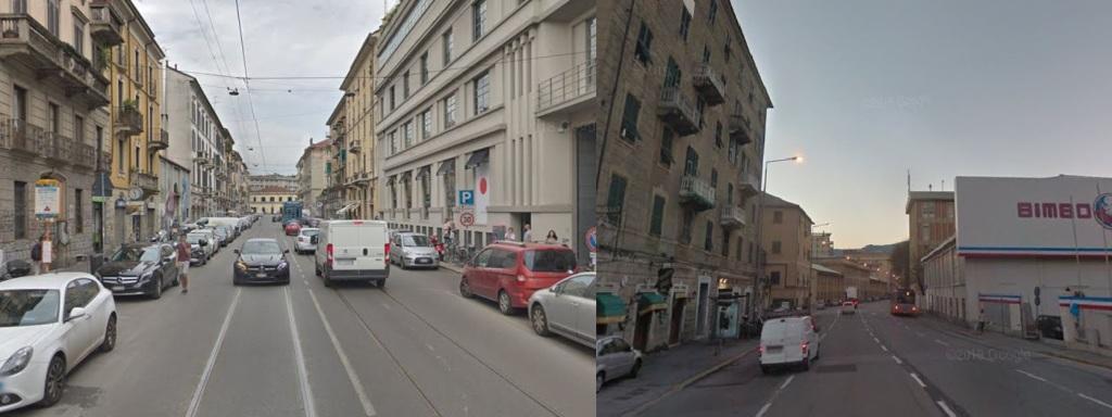 Via Vigevano (Milano) - Via Angelo Siffredi (Genova)