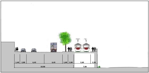 Sezione Via Struppa Madonnetta con allargamento cava